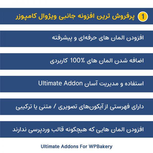 افزونه افزودنی های اضافی ویژوال کامپوزر | Ultimate Addons For WPBakery